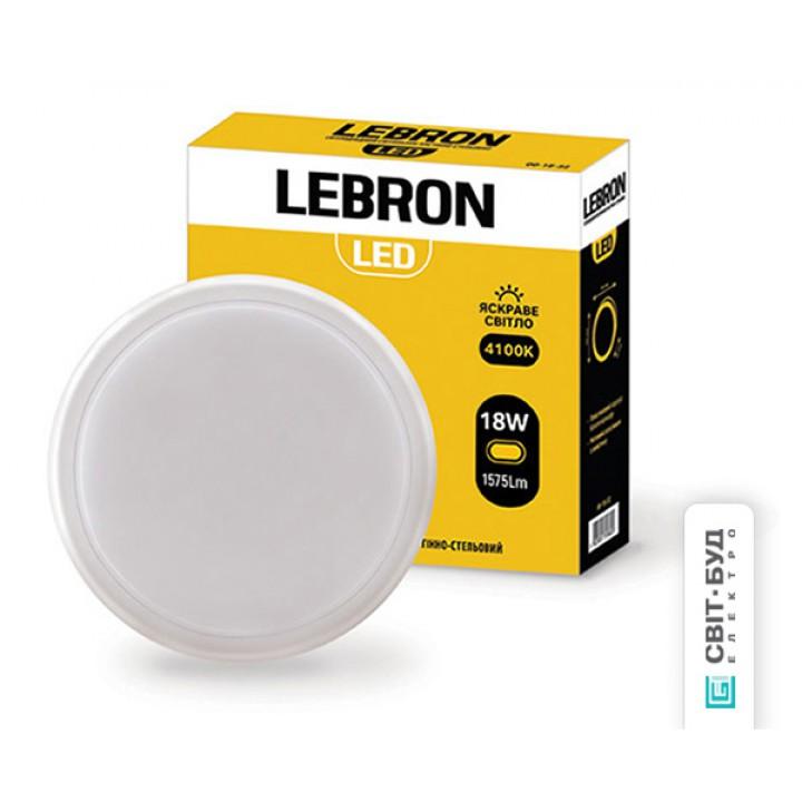 LED светильник Lebron L-WLR, 18W, круглый, 4100K, 1575Lm, угол 140 °
