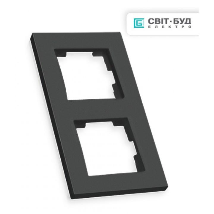 Рамка вертикальная двухместная RITA, Mutlusan, черный