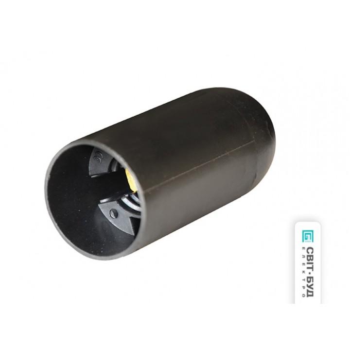 Патрон Е14 подвесной, пластик, черный