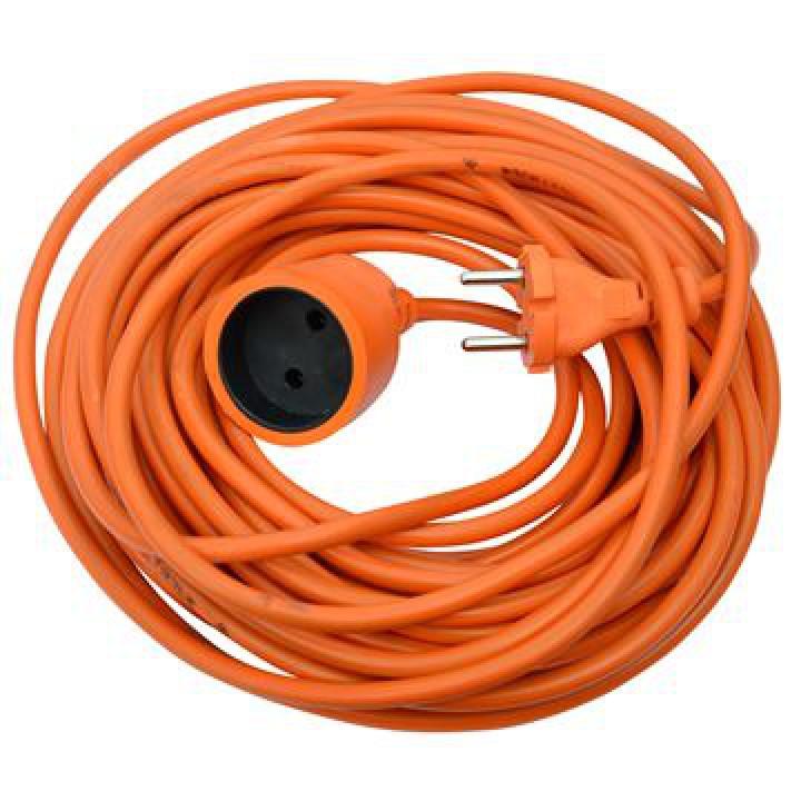Удлинитель без заземления, 1 гнездо, 30м, 16А, ПВС 2x1,5, оранжевый