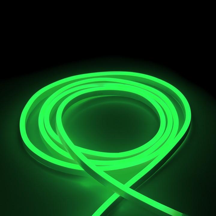 Светодиодная лента NEON LEBRON L-NS, 8x16мм, SMD 2835, 120LED 7W/m, AC220V, зеленый, IP65, (1м)