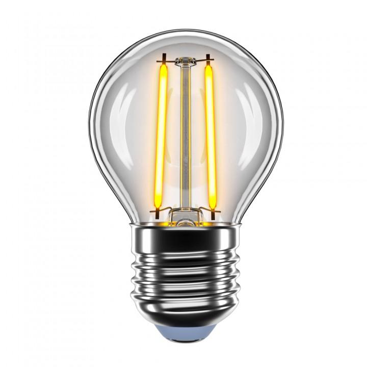 LED лампа VELMAX V-Filament-G45, 2W, E27, 2700K, 200Lm