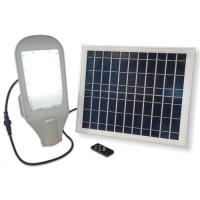 LED св-к вуличний із сонячною панеллю VELMAX V-SL-Solar, 20W